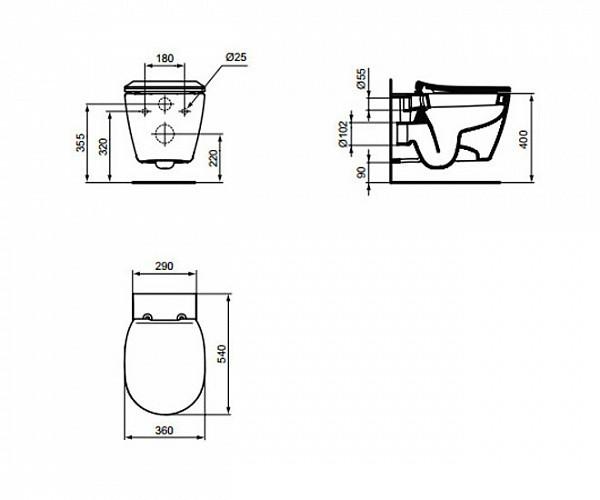 ideal standard e772101. Black Bedroom Furniture Sets. Home Design Ideas