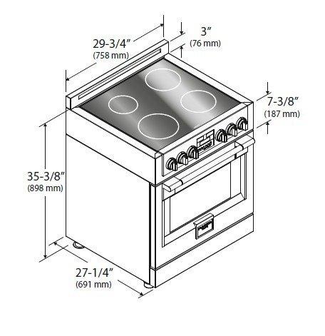 Fulgor Chef Professional Kuchnia Wolnostojąca Sofia Z Płytą Indukcyjną Szer76 Cm 4 Pola Grzewcze Kolor Czarny Fsrc 3004 P Mi Ed 2f X