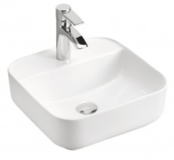 COMAD Umywalka nablatowa MAGIC 1 390x390x145 kolor WHITE E-6288